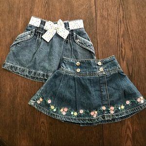 4/$25 Carter's Bundle Denim Skirts Size 2T